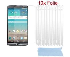 Cadorabo 10 x Screen Protector Crystal Clear HQ for > LG...