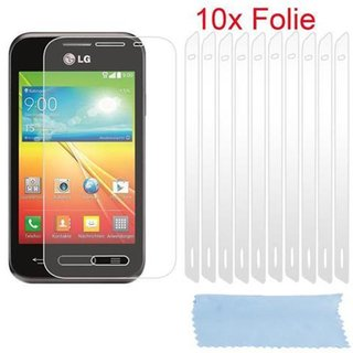 Cadorabo - 10 x Screen Protector Crystal Clear HQ for > LG L40 < high clear - Transparent