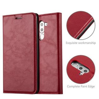 Cadorabo Book Case works with Honor 6X in APPLE RED -...