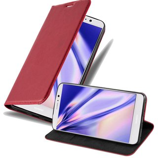Cadorabo Book Case works with Huawei MATE 9 in APPLE RED...