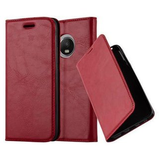 Cadorabo Book Case works with Motorola  MOTO G5 in APPLE...
