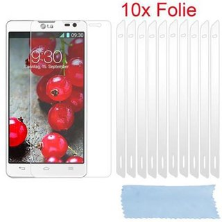 Cadorabo - 10 x Screen Protector Crystal Clear HQ for > LG OPTIMUS D605 L9 II < high clear - Transparent