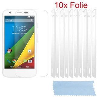Cadorabo 10 x Screen Protector Crystal Clear HQ for > Motorola MOTO G-DVX < high clear Transparent