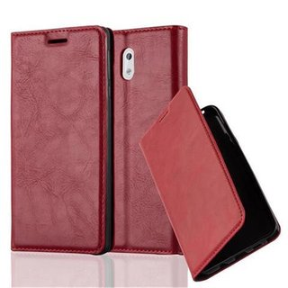 Cadorabo Book Case works with Nokia 3 2017 in APPLE RED -...