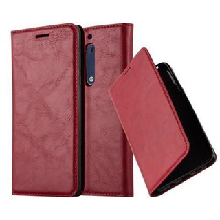 Cadorabo Book Case works with Nokia 5 2017 in APPLE RED -...