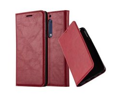 Cadorabo Book Case works with Nokia 5 2017 in APPLE RED...
