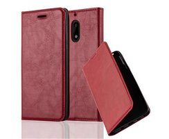 Cadorabo Book Case works with Nokia 6 2017 in APPLE RED...