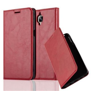 Cadorabo Book Case works with OnePlus 3 / 3T in APPLE RED...