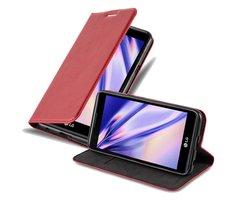 Cadorabo Book Case works with LG X POWER in APPLE RED -...