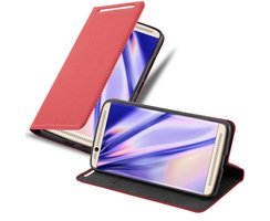 Cadorabo Book Case works with ZTE Axon 7 in APPLE RED...