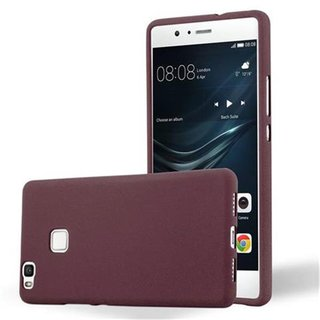 Cadorabo Case works with Huawei P9 LITE in FROST BORDEAUX...