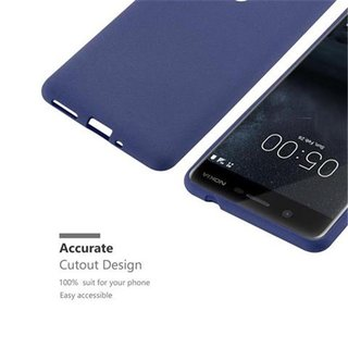 Cadorabo Case works with Nokia 5 2017 in FROST DARK BLUE...