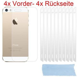 Cadorabo - 4x front- 4x back Screen Protector Crystal...