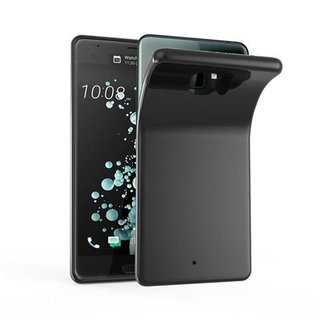 Cadorabo Case works with HTC U ULTRA in BLACK -...