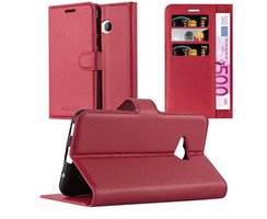Cadorabo Book Case works with HTC U PLAY in CANDY APPLE...