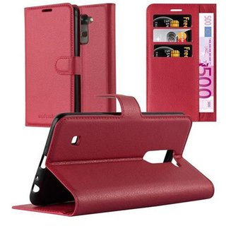 Cadorabo Book Case works with LG STYLUS 2 in CANDY APPLE...