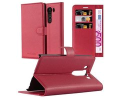 Cadorabo Book Case works with LG V10 in CANDY APPLE RED...