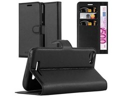 Cadorabo Book Case works with WIKO JERRY in OXID BLACK...