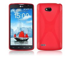 Cadorabo Case works with LG L80 in CANDY APPLE RED -...