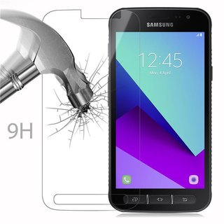 Cadorabo Tempered Glass works with Samsung Galaxy XCover 4 in HIGH TRANSPARENCY Screen Protection 3D Touch Compatible with 9H Hardness Bulletproof Display Saver