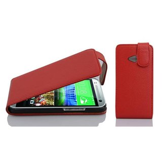 Cadorabo Hülle für HTC ONE M8 MINI in INFERNO ROT -...