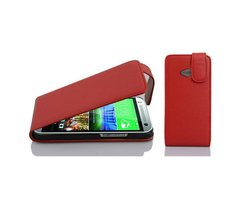 Cadorabo Case works with HTC ONE M8 MINI in CANDY APPLE...