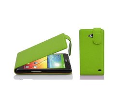 Cadorabo Case works with LG L70 in APPLE GREEN - Flip...