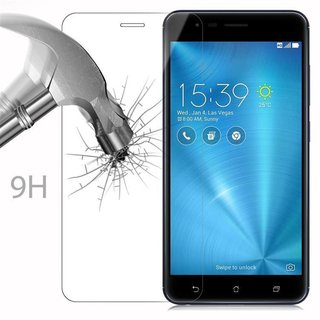 Cadorabo Tempered Glass works with Asus ZenFone ZOOM S in HIGH TRANSPARENCY - Screen Protection 3D Touch Compatible with 9H Hardness - Bulletproof Display Saver