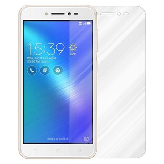 Cadorabo Tempered Glass works with Asus ZenFone LIVE in HIGH TRANSPARENCY - Screen Protection 3D Touch Compatible with 9H Hardness - Bulletproof Display Saver