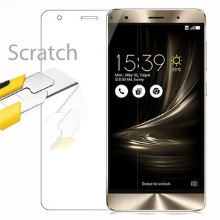 Cadorabo Tempered Glass works with Asus ZenFone 3 DELUXE in HIGH TRANSPARENCY Screen Protection 3D Touch Compatible with 9H Hardness Bulletproof Display Saver