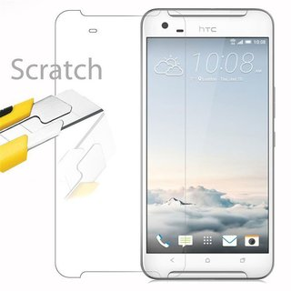 Cadorabo Tempered Glass works with HTC ONE X9 in HIGH TRANSPARENCY - Screen Protection 3D Touch Compatible with 9H Hardness - Bulletproof Display Saver