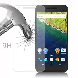 Cadorabo Tempered Glass works with Huawei NEXUS 6P in HIGH TRANSPARENCY - Screen Protection 3D Touch Compatible with 9H Hardness - Bulletproof Display Saver