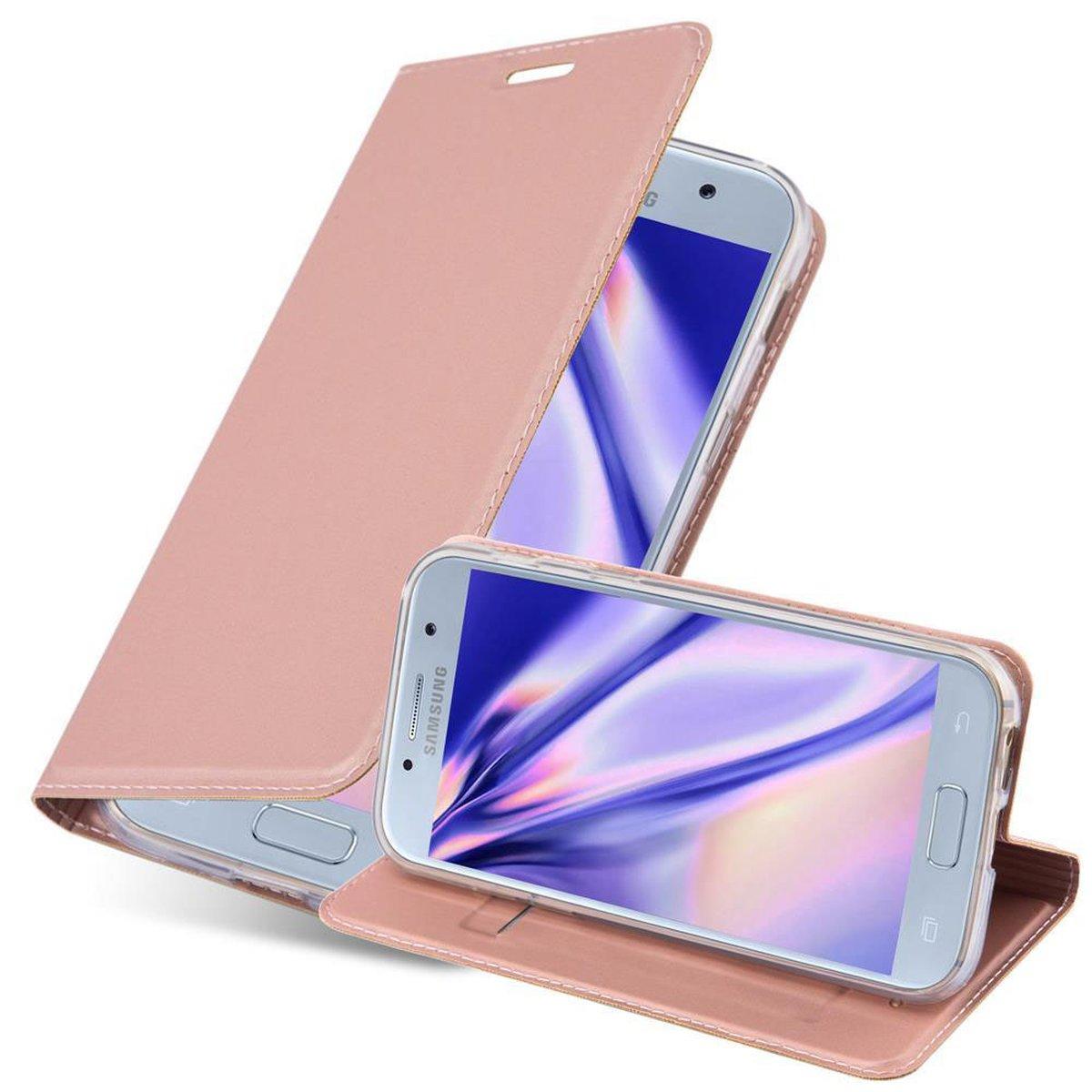 samsung galaxy a3 2017 tasche im metallic look rose gold. Black Bedroom Furniture Sets. Home Design Ideas
