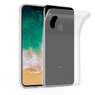 new style 09f45 31bd8 Cadorabo Coque pour Apple iPhone X   XS en COMPLET TRANSPARENT - Housse  Protection Souple en ...