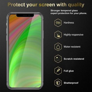 Cadorabo Tempered Glass works with Apple iPhone X / XS in HIGH TRANSPARENCY - Screen Protection 3D Touch Compatible with 9H Hardness - Bulletproof Display Saver