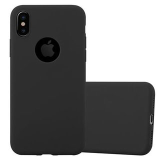 Cadorabo Hülle für Apple iPhone X / XS in CANDY SCHWARZ -...