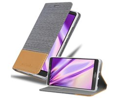 Cadorabo Book Case works with Huawei MATE 8 in LIGHT GREY...