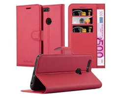 Cadorabo Book Case works with Honor 8 in CANDY APPLE RED...
