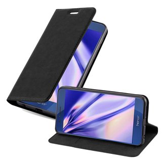 Cadorabo Book Case works with Honor 8 in NIGHT BLACK -...