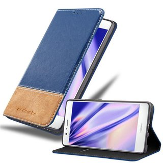Cadorabo Book Case works with Huawei P9 LITE in BLAU...
