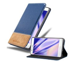 Cadorabo Book Case works with Huawei P9 LITE in DARK BLUE...