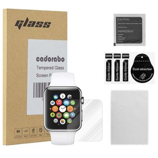 Cadorabo Panzer Folie für Apple Watch Series 1 & 2 42mm -...