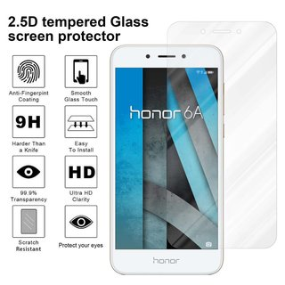 Cadorabo Tempered Glass works with Honor 6A in HIGH TRANSPARENCY - Screen Protection 3D Touch Compatible with 9H Hardness - Bulletproof Display Saver