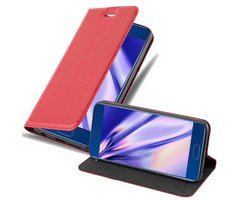 Cadorabo Book Case works with Honor 9 in APPLE RED with...