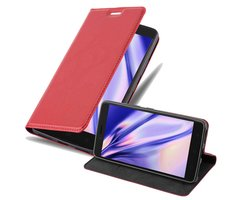 Cadorabo Book Case works with Lenovo K6 NOTE in APPLE RED...