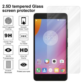 Cadorabo Tempered Glass works with Lenovo K6 NOTE in HIGH TRANSPARENCY Screen Protection 3D Touch Compatible with 9H Hardness Bulletproof Display Saver