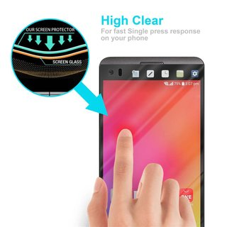 Cadorabo Tempered Glass works with LG V20 in HIGH TRANSPARENCY - Screen Protection 3D Touch Compatible with 9H Hardness - Bulletproof Display Saver