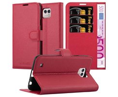 Cadorabo Book Case works with LG X CAM in CANDY APPLE RED...