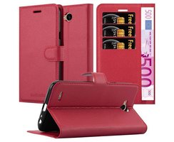 Cadorabo Book Case works with LG X POWER 2 in CANDY APPLE...