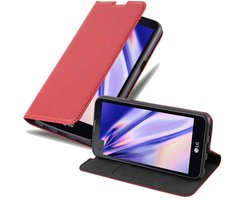 Cadorabo Book Case works with LG X SCREEN in APPLE RED...